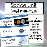 Space and Solar System Word Wall Cards