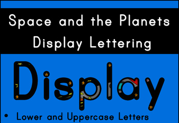 Space and The Planets Display Lettering