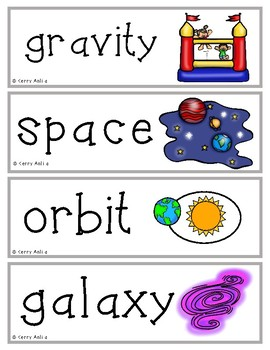 Space and Weather Vocabulary