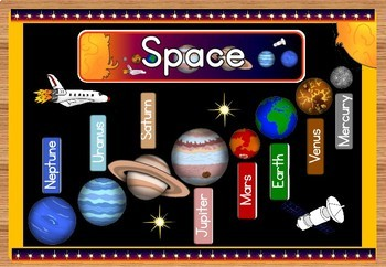 Space bulletin board set