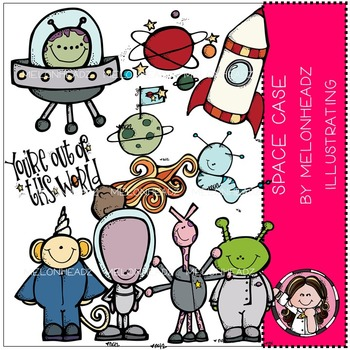 Space case clip art - COMBO PACK- by Melonheadz