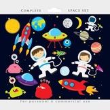 Space clipart - astronaut clip art, UFOs, aliens, spaceship, rocket, planets