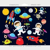 Space clipart - astronaut clip art, UFOs, aliens, spaceshi