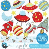 Space clipart commercial use, vector graphics, digital clip art - CL319
