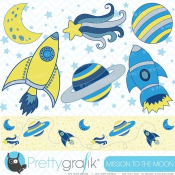 Space clipart commercial use, vector graphics, digital clip art - CL323