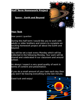 Space - earth and beyond - project