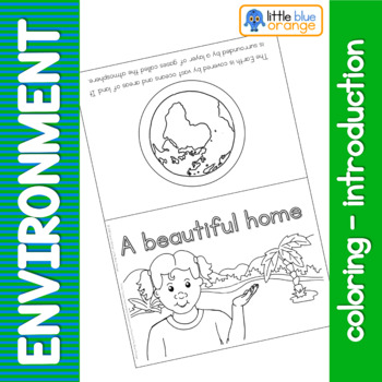 Environment coloring booklet - taking care of the Earth