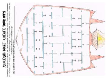 Space math activity: Space math multiplication maze