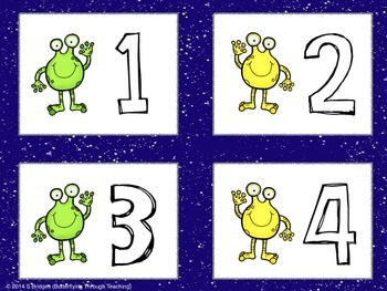Space number cards