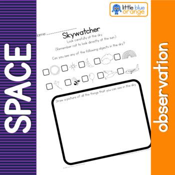 Space observation worksheet