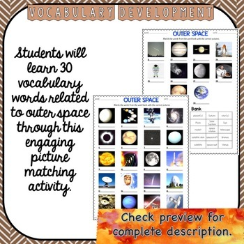 Space unit for ESL speaking, reading, writing and vocabulary activities