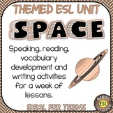 Space ESL/ELL Unit Reading Passages, Speaking and Writing Activities