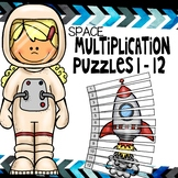 Space skip counting multiplication puzzles