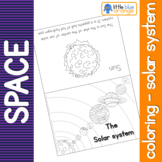 Space - the Solar System - coloring booklet