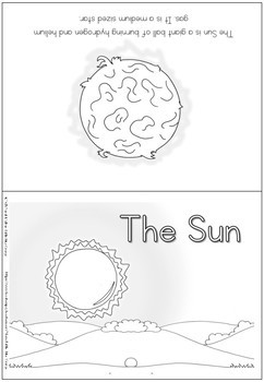 Space - the Sun - coloring booklet