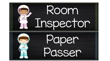Space theme classroom jobs