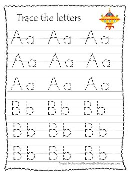 Space themed A-Z tracing preschool educational worksheets.  Daycare alphabet.