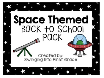 Space themed Back to School pack! (editable!)