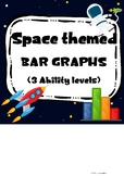 Space themed Bar Graph - Reading and drawing 3 Levels