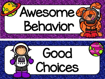 Space-themed Behavior Chart