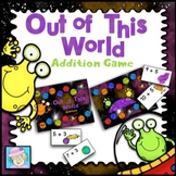 Addition Game Kindergarten 1st 2nd Space Themed