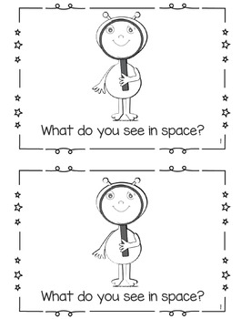 Space-themed Counting Emergent Reader