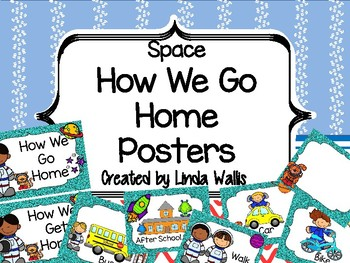 Space-themed How We Go Home Posters