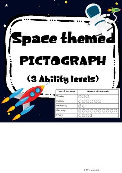 Space themed Pictograph - 3 Levels