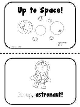 Space themed Sight Word Books -- Set of 4 Emergent Readers