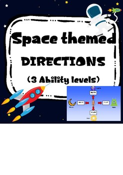 Space themed directions. 3 Ability Levels