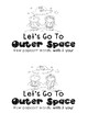 Space themed emergent reader- sight words with & your
