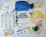 Space themed printables for preschoolers, letter recognition, letter sounds,