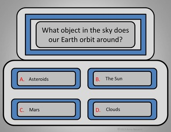 Space/Earth Quiz Game - Power Point