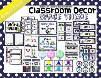 Space Themed Classroom Decor Bundle Pack