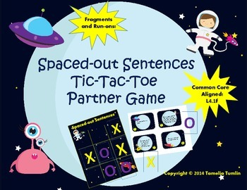 Spaced-Out Sentences Partner Game (Common Core Aligned (Fragments and Run-ons)
