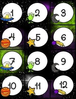 Space Themed Calendar- version 2