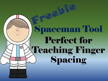 Spaceman Finger Spacing Tool Freebie