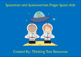 Spacemen Writing Finger Space Aids