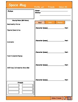 Spacemug - Characterization Social Media Page