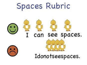 Spaces Rubric