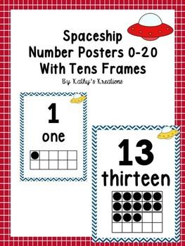 Spaceship Number Posters 0-20