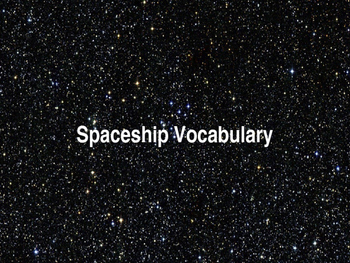 Spaceship Vocabulary