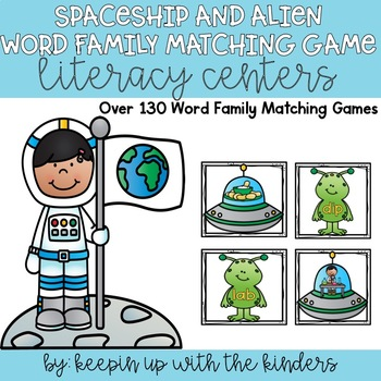 Spaceship and Alien Word Family Matching Game