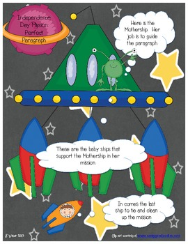 Spaceship paragraph writing graphic organizer