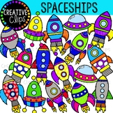 Spaceships {Creative Clips Clipart}