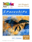 Spaceships Inspired by Leonardo da Vinci: Art Lesson for G