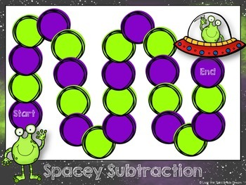Spacy Subtraction- Three Digit Subtraction Game