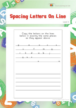 Spacing Letters on Lines (Visual Perception Worksheets)