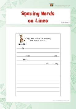 Spacing Words on Lines (Kindergarten)