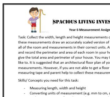 Spacious Living Maths Investigation